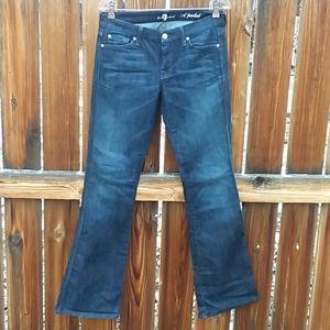 7fam A pocket jeans boot cut sz 28 dark wash